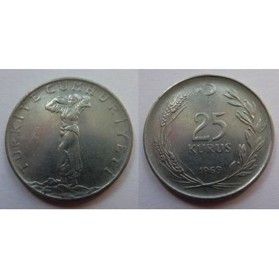 Turecko - 25 kurus 1969