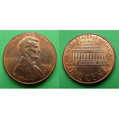 Spojené státy americké - 1 cent 1996 D