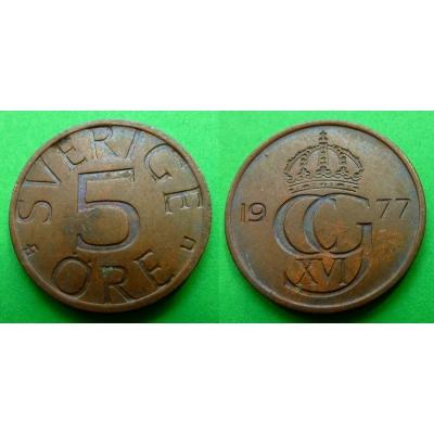 Švédsko - 5 Öre 1977