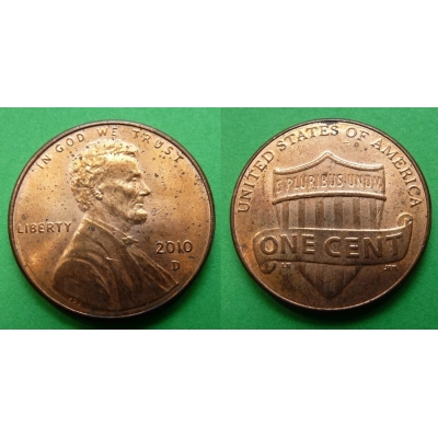Spojené státy americké - 1 cent 2010 D