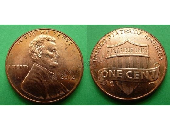 Spojené státy americké - 1 cent 2012
