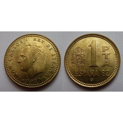 Španělsko - 1 peseta 1980