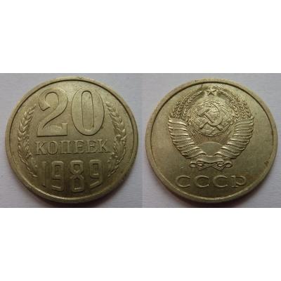 Sovětský svaz - 20 kopějek 1989