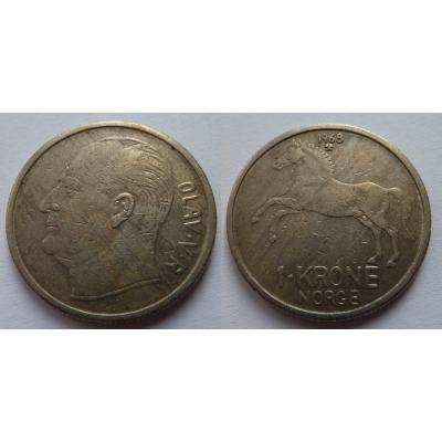 Norsko - 1 krone 1968