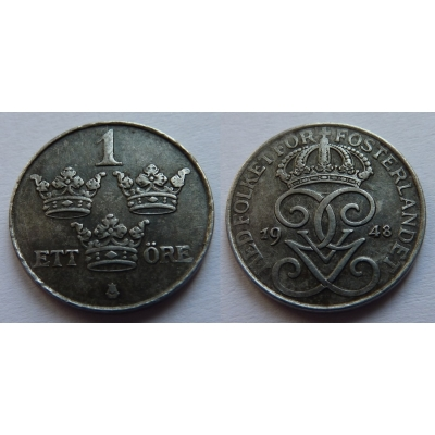 Švédsko - 1 Öre 1948