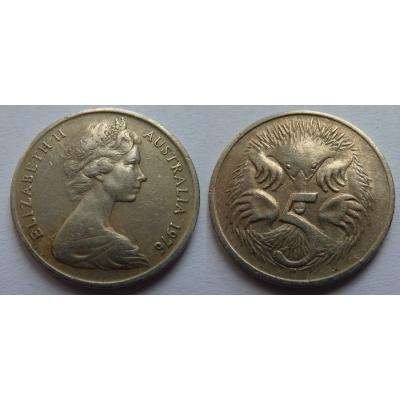 Austrálie - 5 cents 1976