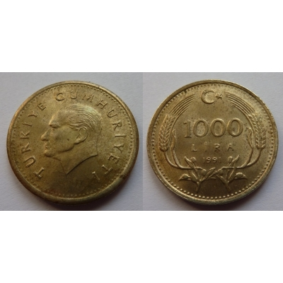 Turecko - 1000 lira 1991