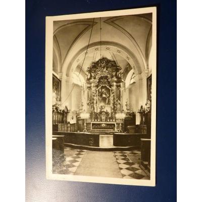Československo - pohlednice Stará Boleslav, kostel sv. Václava, hlavní oltář