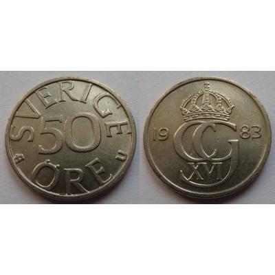 Švédsko - 50 Öre 1983