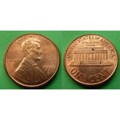 Spojené státy americké - 1 cent 1990 D