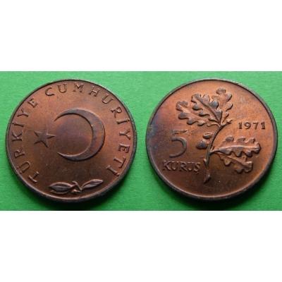 Turecko - 5 Kurus 1971