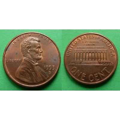 Spojené státy americké - 1 cent 1993 D