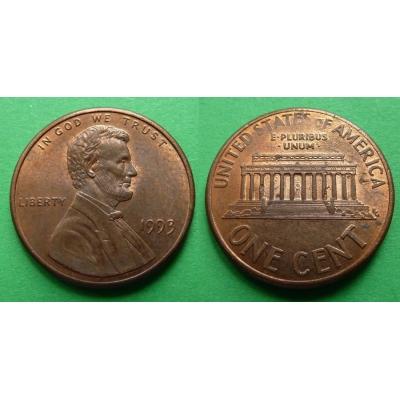 Spojené státy americké - 1 cent 1993