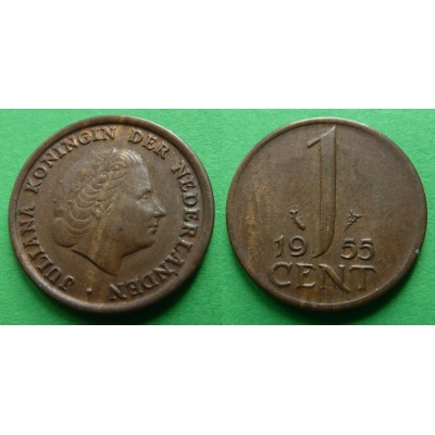 Holandsko - 1 cent 1955