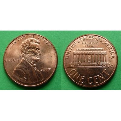 Spojené státy americké - 1 cent 2007