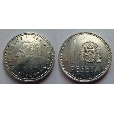 Španělsko - 1 peseta 1984