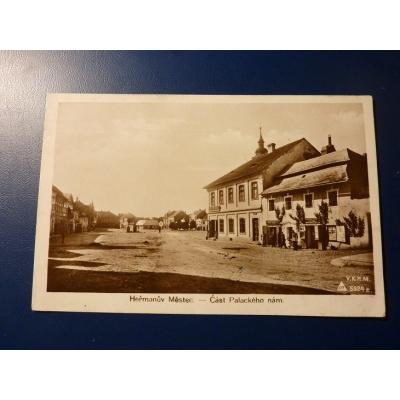 Československo - pohlednice Heřmanův Městec, část Palackého náměstí