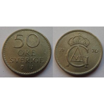 Švédsko - 50 Öre 1970
