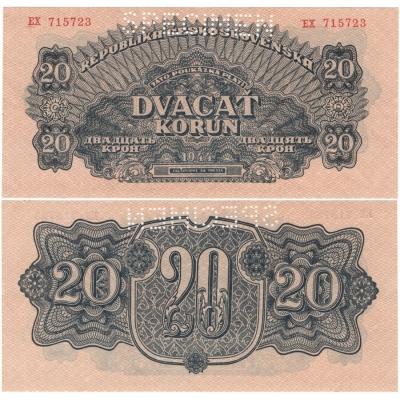 20 korun 1944 UNC
