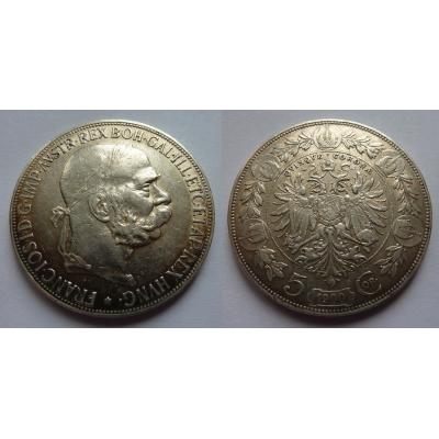 František Josef I. - mince 5 korun 1900