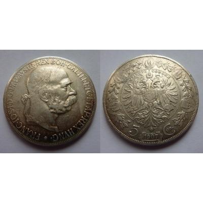 František Josef I. - mince 5 korun 1907
