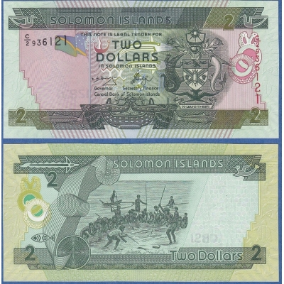 Šalamounovy ostrovy - bankovka 2 dolary 2004 UNC