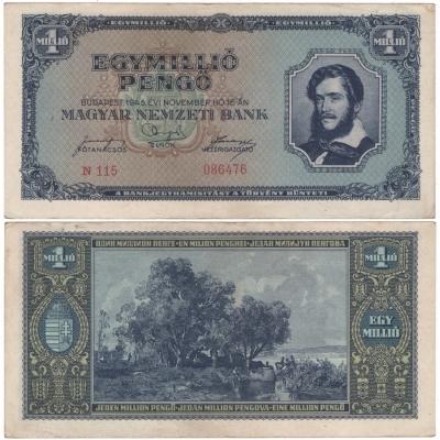 Maďarsko - bankovka 1 milion pengo 1945