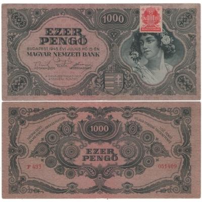 Maďarsko - bankovka 1000 pengo 1945