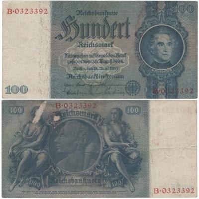 Německo - bankovka 100 reichsmark 1935, série B