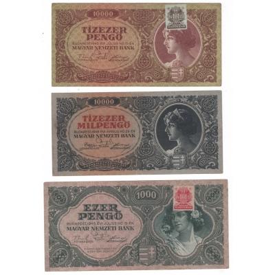 Maďarsko - 3 x bankovka
