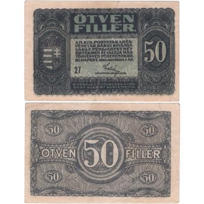 Maďarsko - bankovka 50 filler 1920