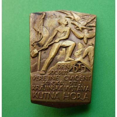 Kutná Hora - Den Sociální demokracie, Veřejné cvičení, Krajinská výstava 1928