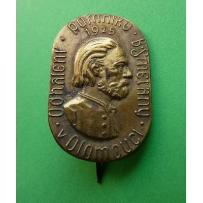 Olomouc - odhalení pomníku Bedřicha Smetany 1925, odznak jehla