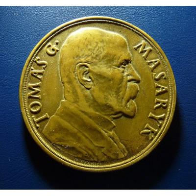 Československo - bronzová medaile k 85. narozeninám T.G. Masaryka 1935