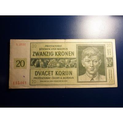 20 korun 1944 S.03H