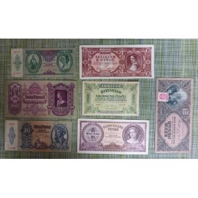 Konvolut bankovek - Maďarsko