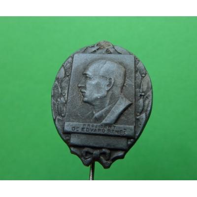 Prezident Dr. Edvard Beneš, smuteční odznak