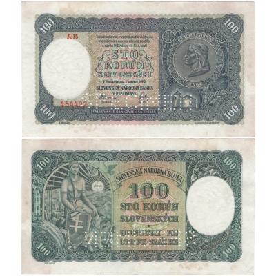 Slovenský štát - 100 korun 1940, I. vydání
