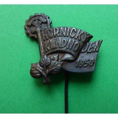 Hornický den - Kladno 1950, odznak jehla