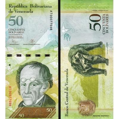 Venezuela - bankovka 50 Bolivares 2015 UNC