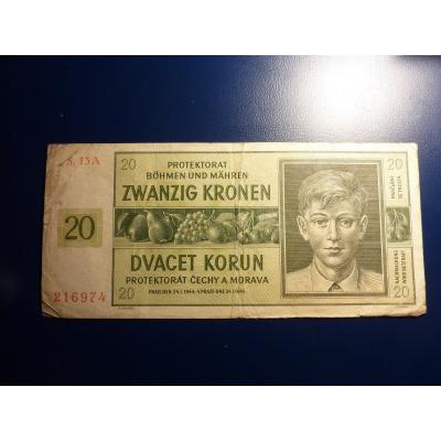 20 korun 1944 S.13A neperforováno