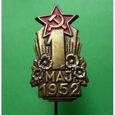 1. máj 1952, odznak jehla