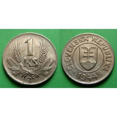 Slovenský štát - 1 koruna 1944