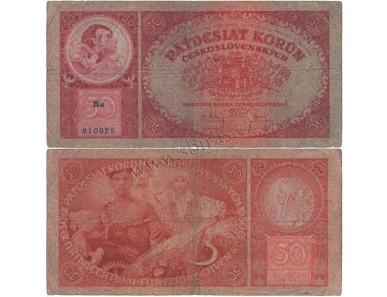 50 korun 1929 neperforovaná