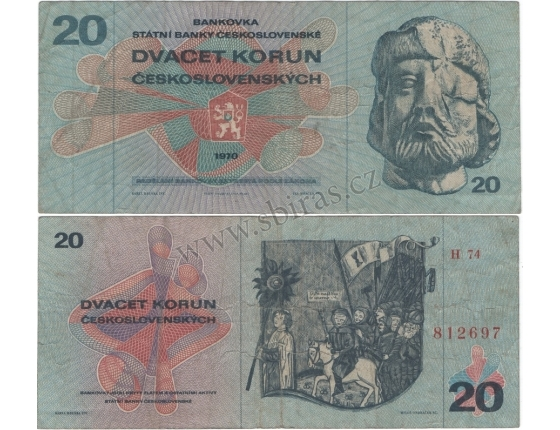 20 korun 1970