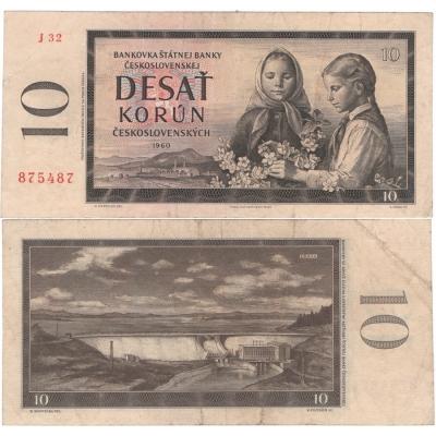 10 Korun 1960, série J