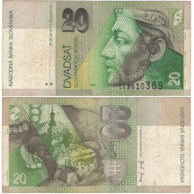 Slovensko - bankovka 20 korun 2004