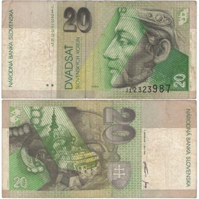 Slovensko - bankovka 20 korun 1999