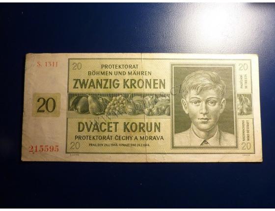 20 korun 1944 S.13H neperforováno