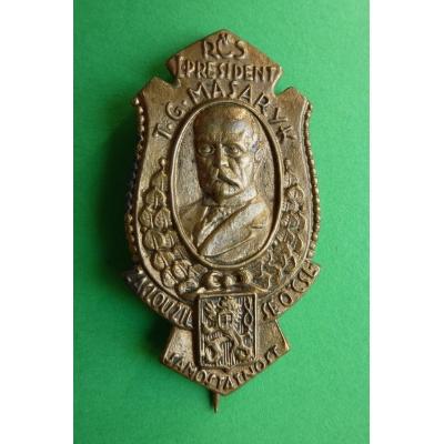 T. G. Masaryk, zasloužil se o samostatnost ČSR, odznak jehla